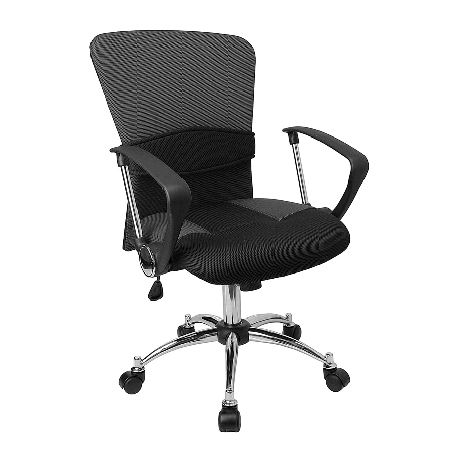 Flash Furniture Chrome/Gray Contemporary Task Chair