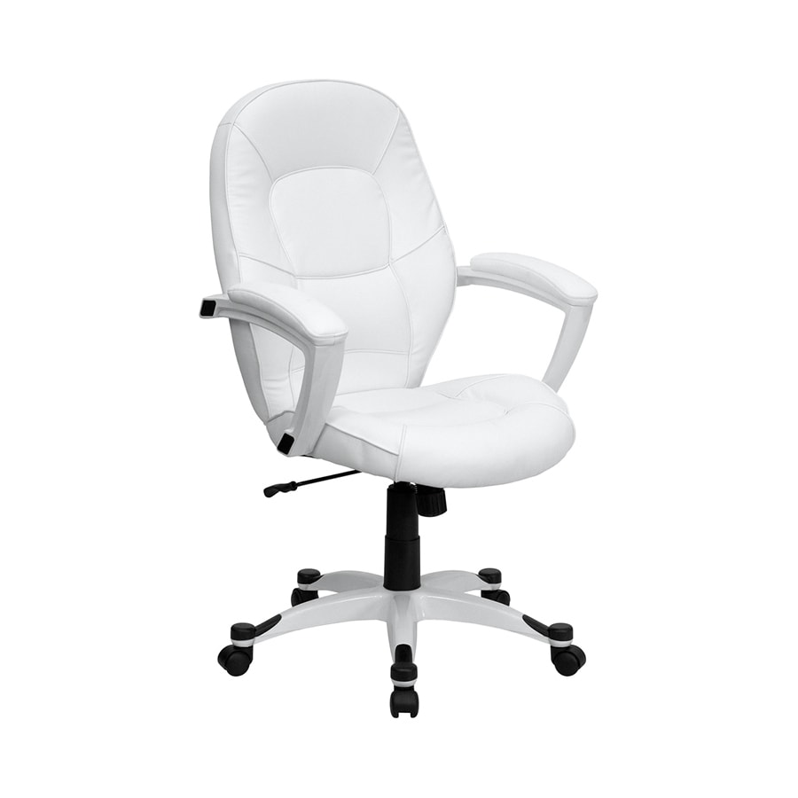 shop flash furniture white faux leather executive office chair at