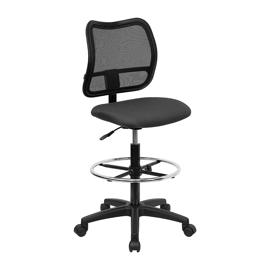 Flash Furniture Black/Gray Casual Drafting Chair