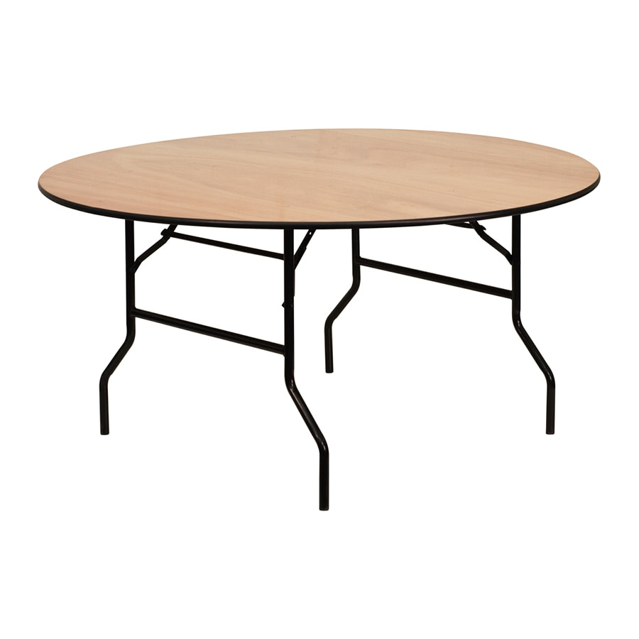 Flash Furniture 60-in x 60-in Circle Unfinished Wood Folding Table