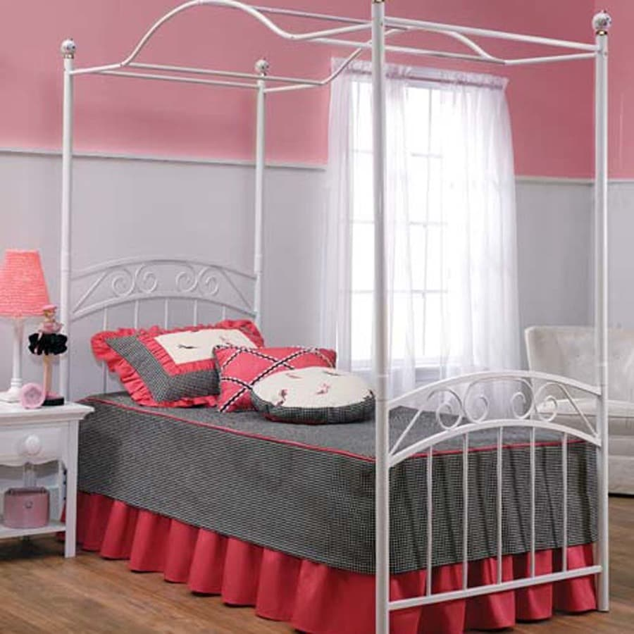 Hillsdale Furniture Emily White Twin Canopy Bed