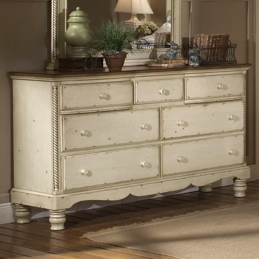 White Antique Dresser shop hillsdale furniture wilshire antique white 7-drawer dresser