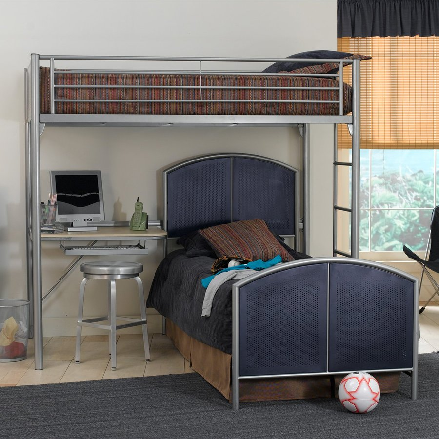 Hillsdale Furniture Universal Silver Twin Study Loft Bunk Bed
