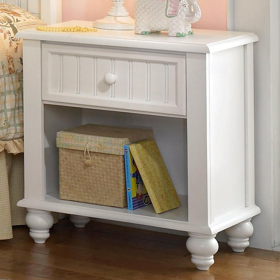 Shop hillsdale furniture westfield off white nightstand at for White wood nightstand