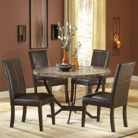 Hillsdale Furniture Monaco Matte Espresso Dining Set With Round Table