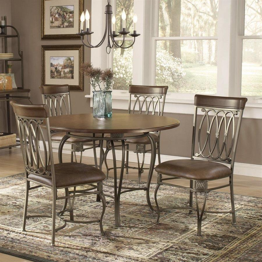 Hillsdale Furniture Montello Brown Dining Set With Round Table At