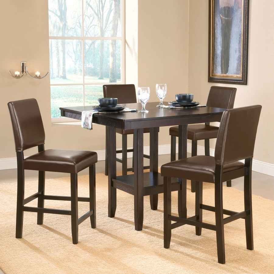 Hilale Furniture Arcadia Espresso Dining Set With Square Counter Height Table