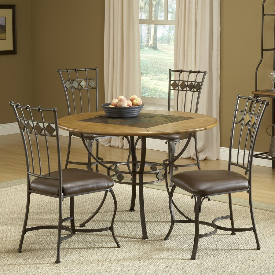 shop hillsdale furniture lakeview brown dining set with round table at