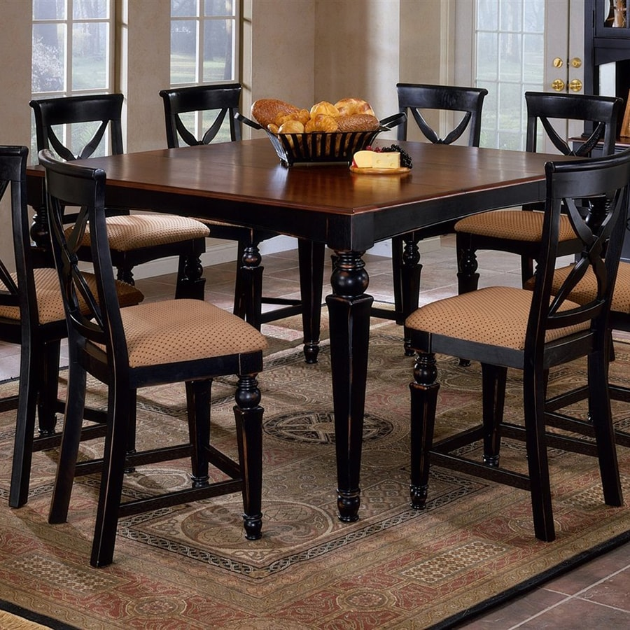 Black Dining Room Table And Chairs: Shop Hillsdale Furniture Northern Heights Black Square