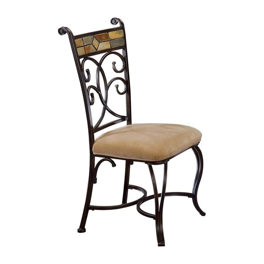 Hillsdale Furniture Set of 2 Pompei Black Gold/Slate Mosaic Side Chairs