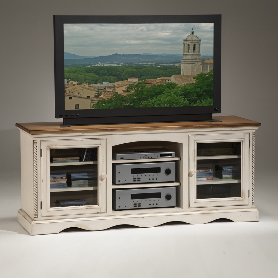 Hilale Furniture Wilshire Antique White Tv Cabinet