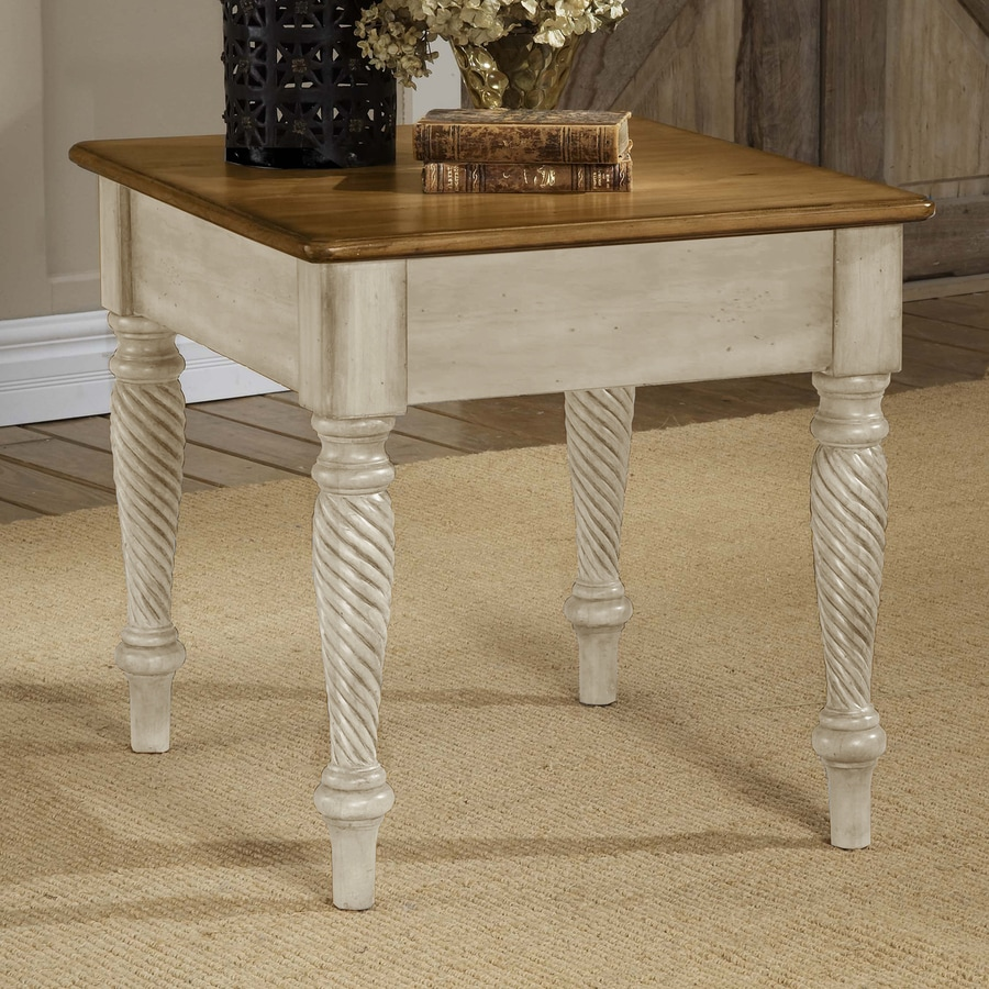 Shop hillsdale furniture wilshire antique white end table for White end table