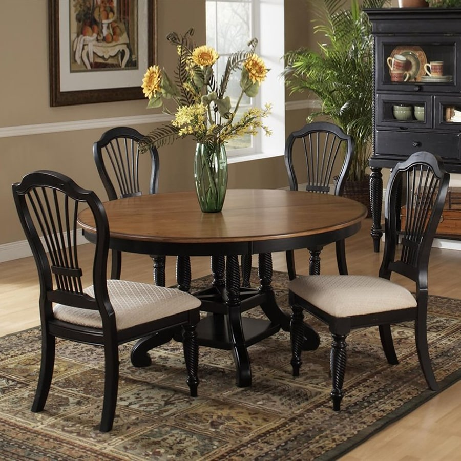 Hillsdale Furniture Wilshire Rubbed Black Dining Set