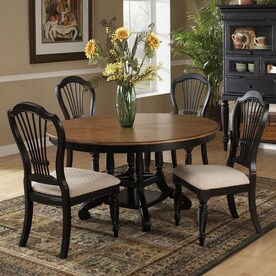 Hillsdale Furniture Wilshire Rubbed Black Round Dining Set With Round Table