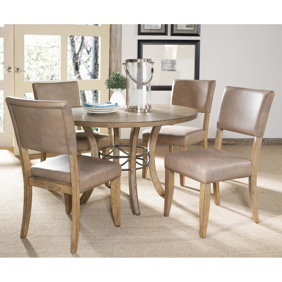 Hillsdale Furniture Charleston Desert Tan 5-Piece Dining Set with Round Dining Table