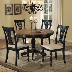 Hillsdale Furniture Embassy Rubbed Black Dining Set With Round Table