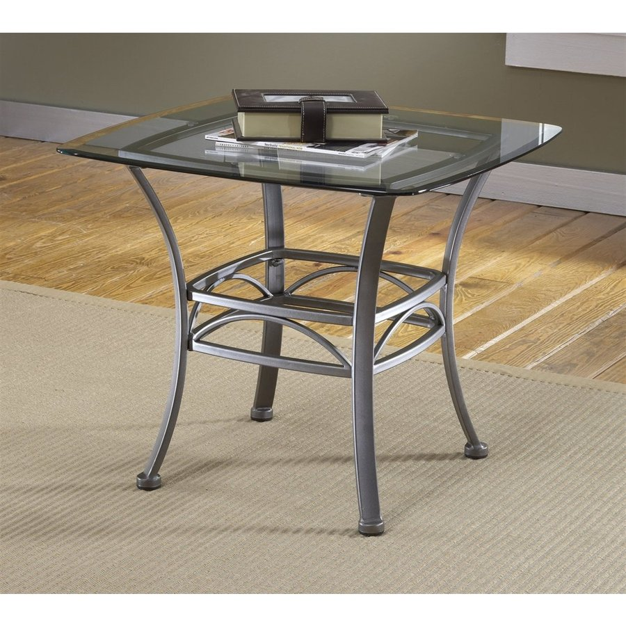 Hillsdale Furniture Abbington Dark Pewter Square End Table