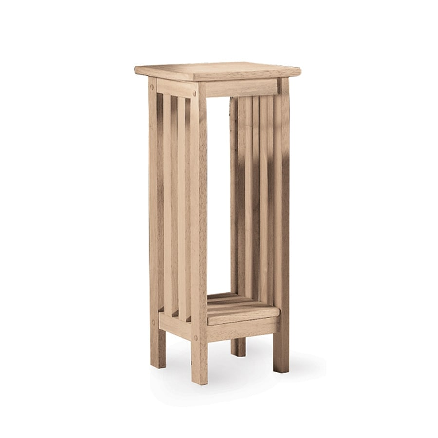International Concepts Mission 30-in Natural Indoor Square Wood Plant Stand