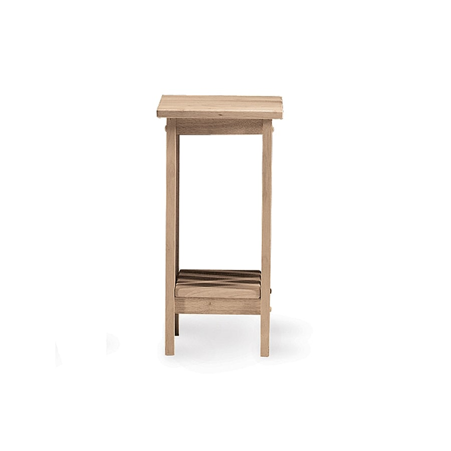 International Concepts Mission 24-in Natural Indoor Square Wood Plant Stand