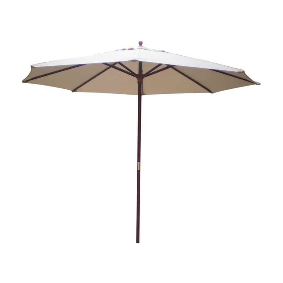International Concepts Natural Market Patio Umbrella (Common: 9-ft W x 9-ft L; Actual: 9-ft W x 9-ft L)