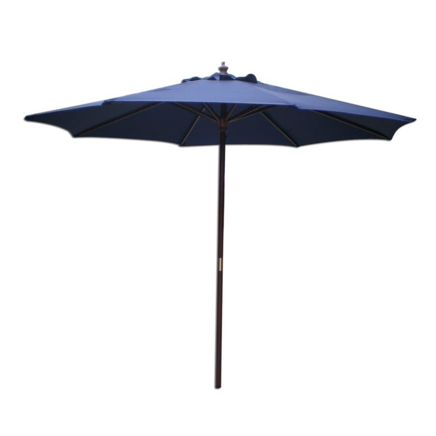 International Concepts Navy Blue Market Patio Umbrella (Common: 9-ft W x 9-ft L; Actual: 9-ft W x 9-ft L)