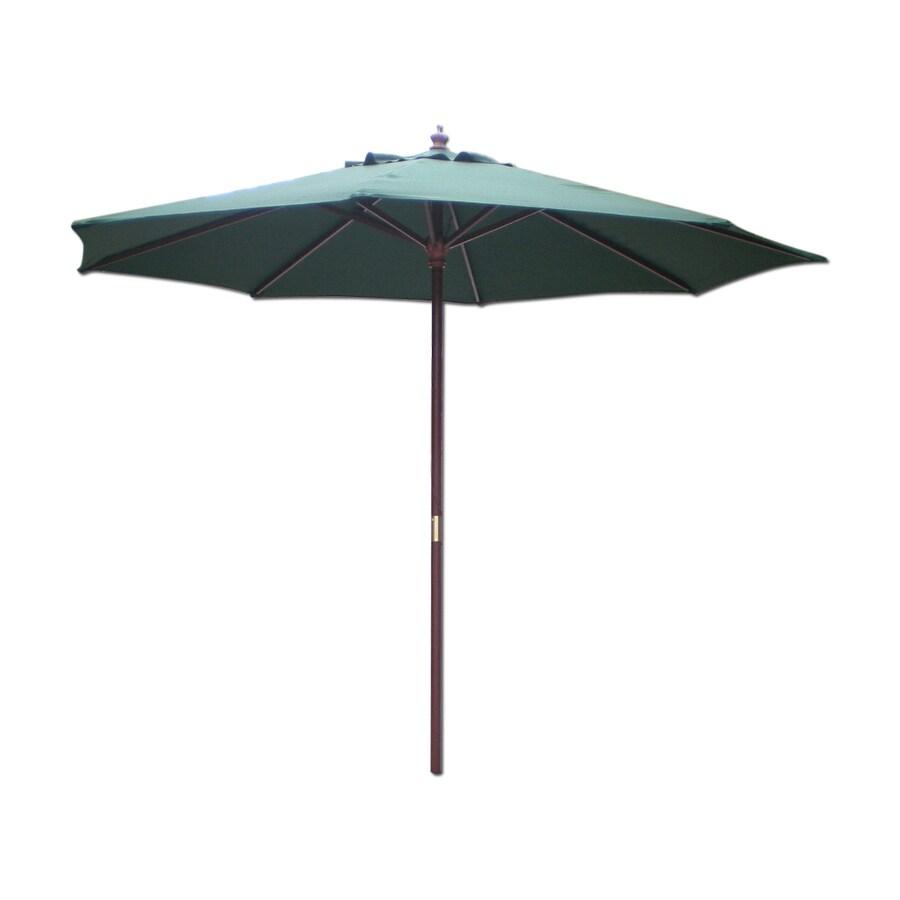 International Concepts Hunter Green Market Patio Umbrella (Common: 9-ft W x 9-ft L; Actual: 9-ft W x 9-ft L)