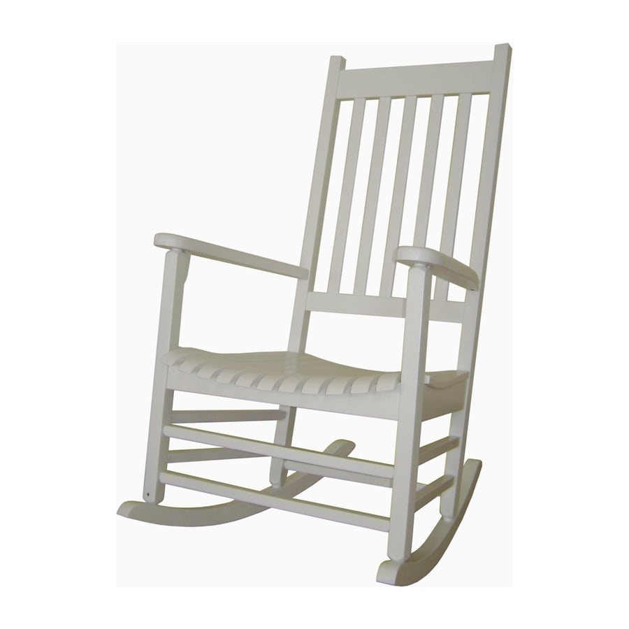 Shop international concepts white acacia patio rocking for Outside porch chairs
