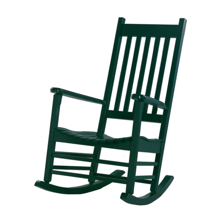... Concepts Hunter Green Acacia Patio Rocking Chair at Lowes.com