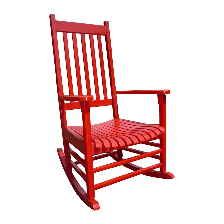 Beau International Concepts Acacia Rocking Chair With Slat Seat