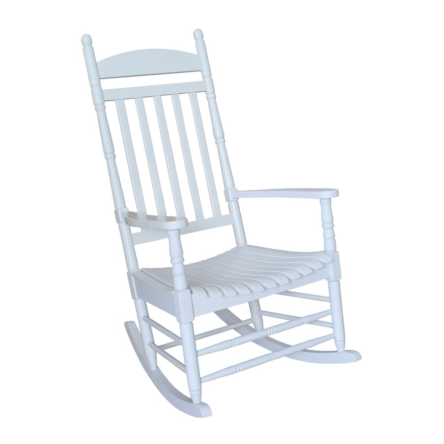 shop international concepts acacia rocking chair with slat seat at