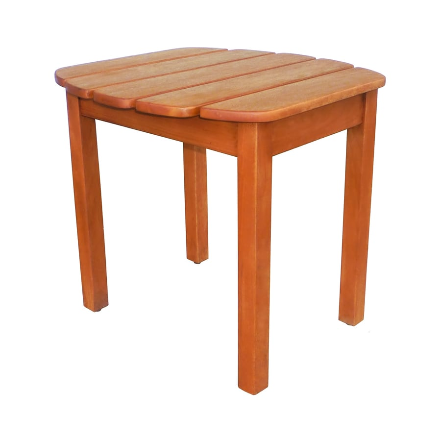International Concepts 18.5-in W x 18.7-in L Square Acacia Wood End Table