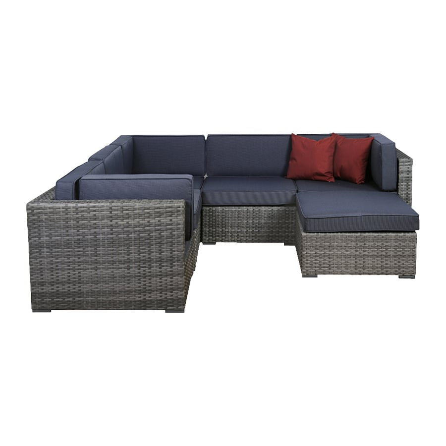 International Home Atlantic 6-Piece Patio Conversation Set