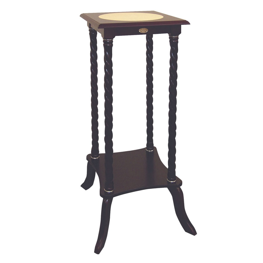 ORE International 33.5-in Rich Cherry Square Ceramic Plant Stand