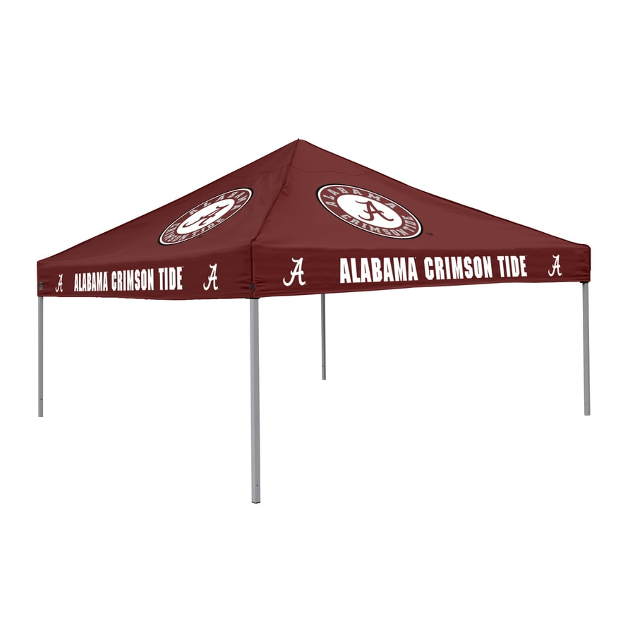 Logo Chairs Tailgating Tent 9-ft W x 9-ft L Square NCAA University Of Alabama Crimson Tide Steel Pop-Up Canopy