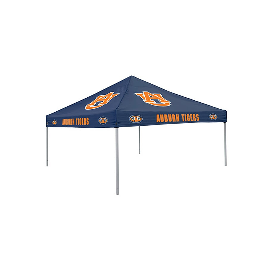 Logo Chairs Tailgating Tent 9-ft W x 9-ft L Square NCAA Auburn University Tigers Steel Pop-Up Canopy