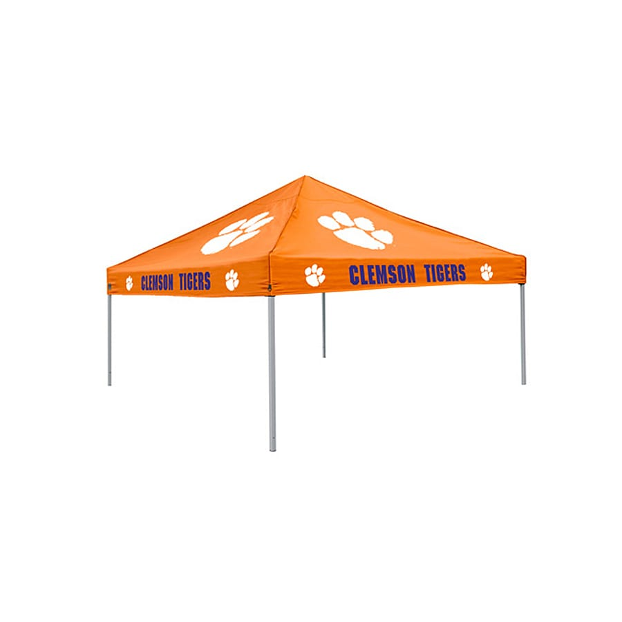 Logo Chairs Tailgating Tent 9-ft W x 9-ft L Square NCAA Clemson University Tigers Steel Pop-Up Canopy