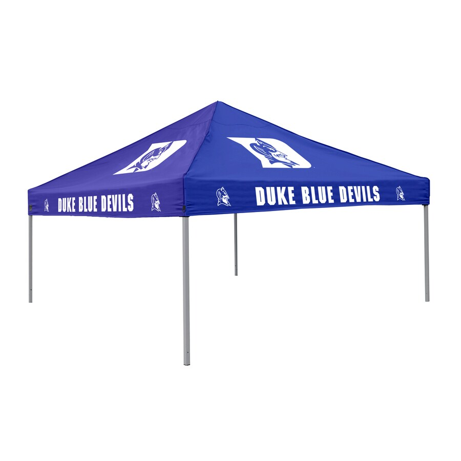 Logo Chairs Tailgating Tent 9-ft W x 9-ft L Square NCAA Duke Blue Devils Steel Pop-Up Canopy
