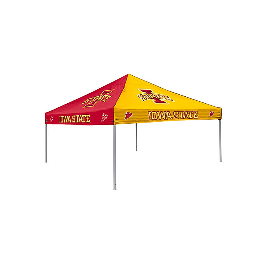 Logo Chairs Iowa State Cyclones Checkerboard Tent 9-ft W x 9-ft L  sc 1 st  Loweu0027s & Shop Logo Chairs Iowa State Cyclones Checkerboard Tent 9-ft W x 9 ...