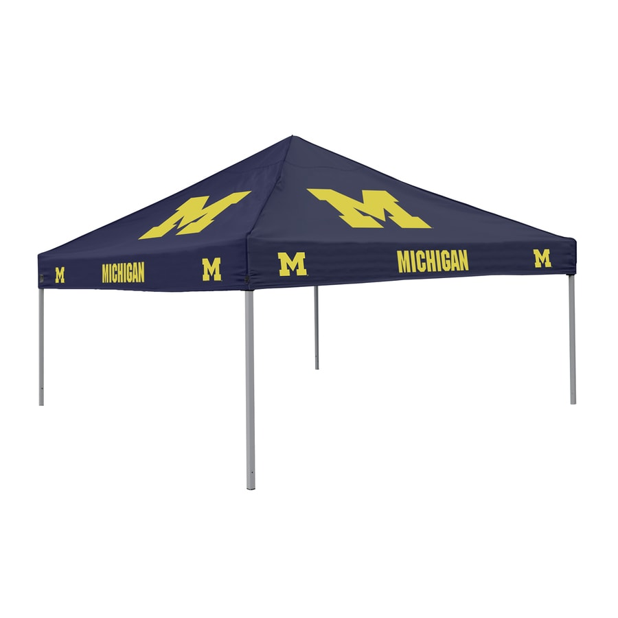 Logo Chairs Tailgating Tent 9-ft W x 9-ft L Square NCAA University  sc 1 st  Loweu0027s & Shop Canopies at Lowes.com