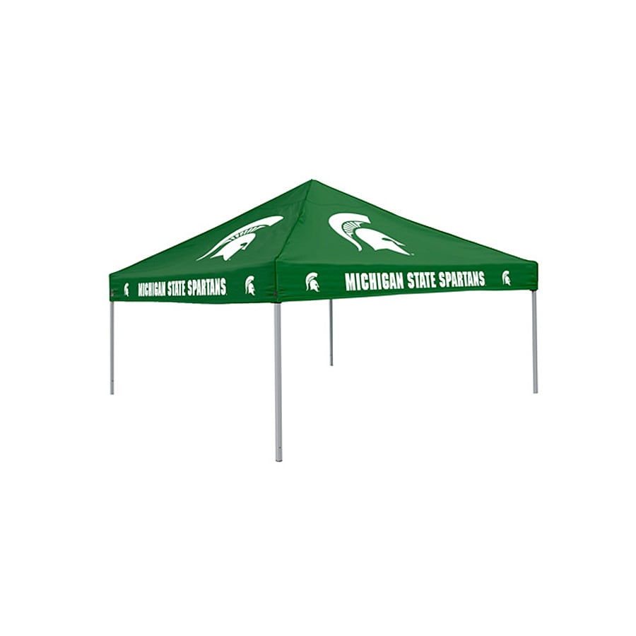 Logo Chairs Tailgating Tent 9-ft W x 9-ft L Square NCAA Michigan State Spartans Steel Pop-Up Canopy