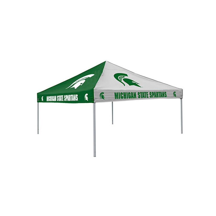 Logo Chairs Michigan State Spartans Checkerboard Tent 9-ft W x 9-ft L  sc 1 st  Loweu0027s & Shop Logo Chairs Michigan State Spartans Checkerboard Tent 9-ft W ...
