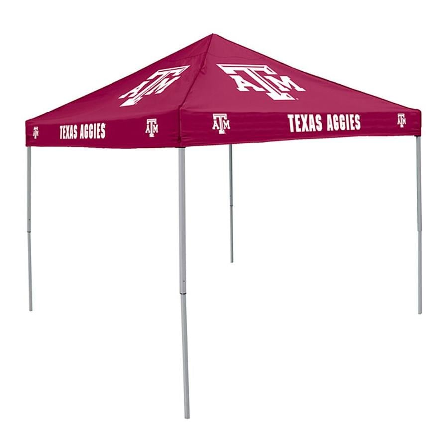 Logo Chairs Tailgating Tent 9-ft W x 9-ft L Square NCAA Texas A&M Aggies Steel Pop-Up Canopy