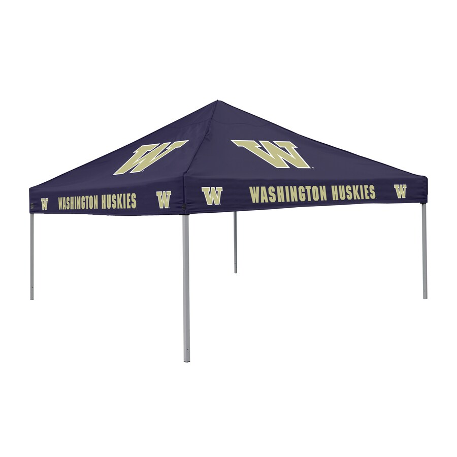 Logo Chairs Tailgating Tent 9-ft W x 9-ft L Square NCAA University Of Washington Huskies Steel Pop-Up Canopy
