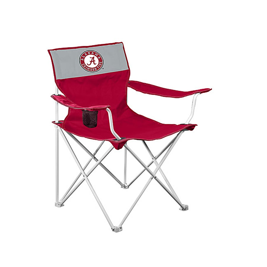 Logo Chairs NCAA University Of Alabama Crimson Tide Steel Folding Camping  Chair