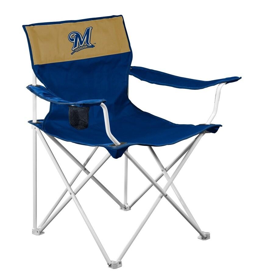 Logo Chairs Mlb Milwaukee Brewers Steel Folding Camping