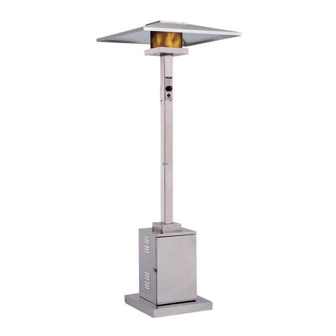 Dayva 40 000 Btu Stainless Steel Natural Gas Patio Heater In The Gas Patio Heaters Department At Lowes Com