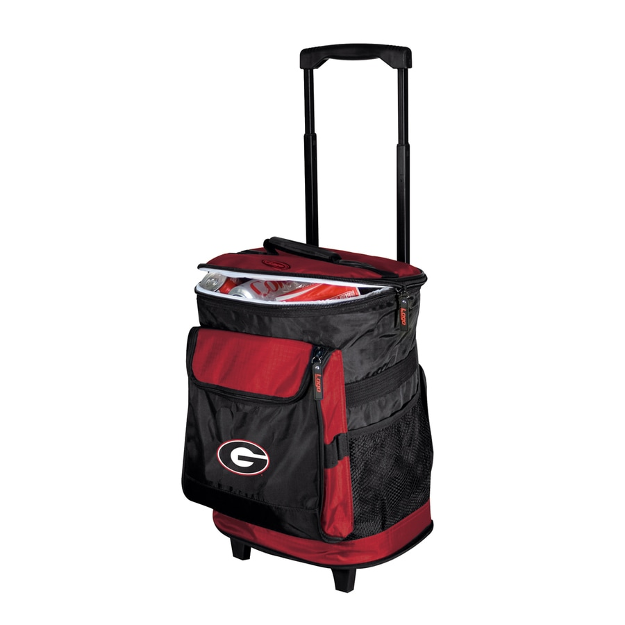 Logo Chairs Georgia Bulldogs Wheeled Polyester Cooler