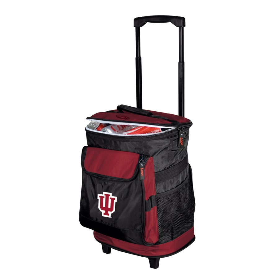 Logo Chairs Indiana Hoosiers Wheeled Polyester Cart Cooler