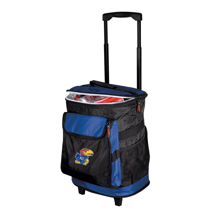 Logo Chairs Kansas Jayhawks Wheeled Polyester Cooler