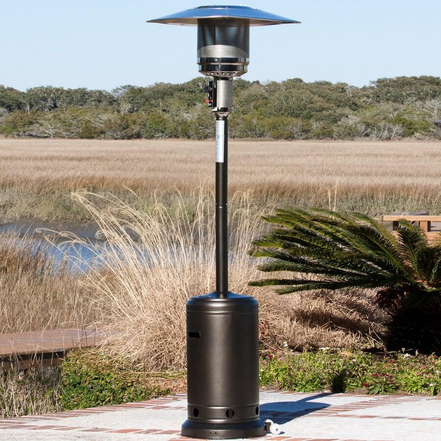 fire sense patio heater Shop Fire Sense 46,000 BTU Mocha Steel Liquid Propane Patio Heater  fire sense patio heater